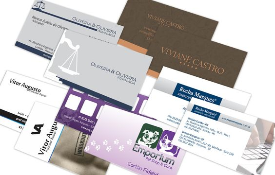 Projeto de criação de cartões de visitas para diversos tipos de clientes.