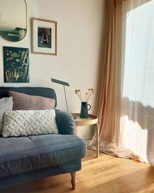 Stocksund Tallmyra Blue 3 Seat Sofa Add To Cart Ikea Living Room Reveal Arm Chairs Living Room Living Room Themes