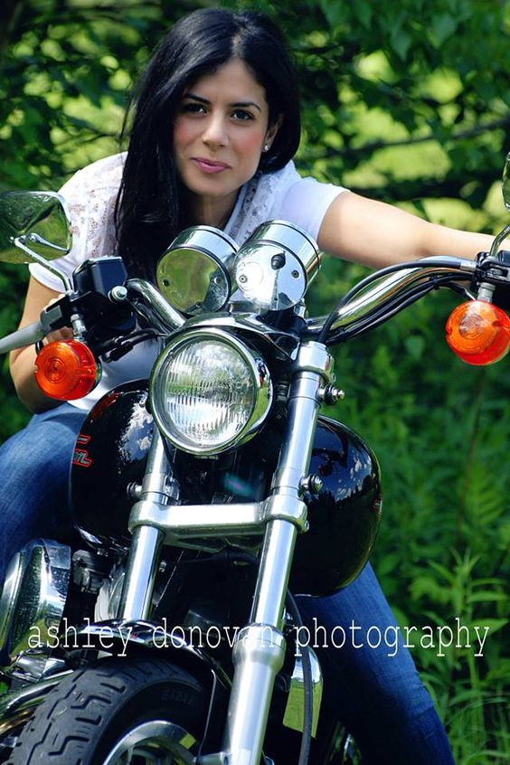 Motorcycles and heels with Ashley donovan photography