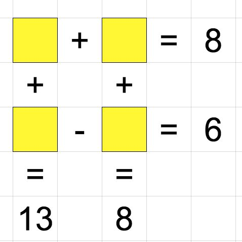 math puzzle in a spreadsheet