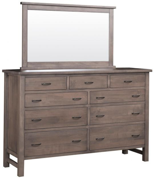 Wyndham Grand Mirror Dresser Dresser With Mirror Amish