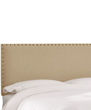 Another great find on #zulily! Sandstorm Linen Nailhead Border Headboard #zulilyfinds