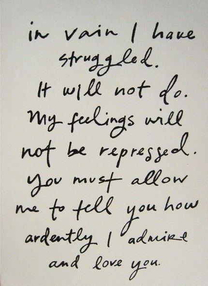 Mr. Darcy...