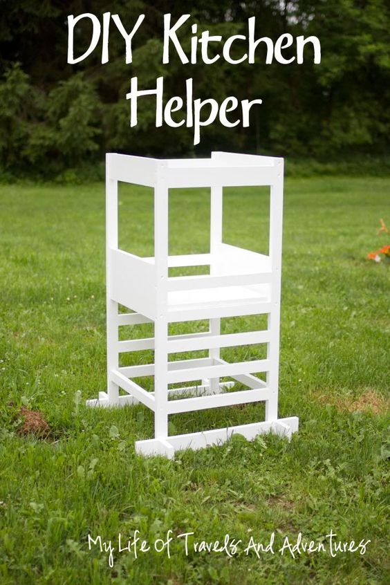Kitchen helper toddler step stool october 2013 my for Kitchen helper stool