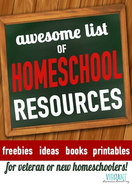 Dozens and dozens of links to great homeschool resources--many of them free! Don't miss these links to freebies, ideas, books and printables that can help any homeschooler! Vibrant Homeschooling