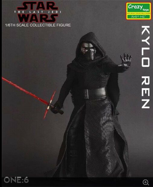 CRAZY TOYS STAR WARS KYLO REN 1//6TH SCALE COLLECTIBLE ACTION FIGURE MODEL TOY