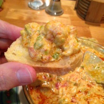 Hot Crawfish Dip @keyingredient #cheese #bread