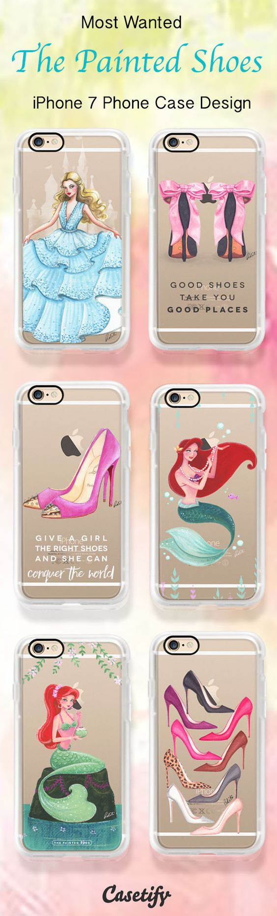 Most wanted iPhone 7 case designs by The Painted Shoes - also available for iPhone 6. Shop them all here > https://www.casetify.com/thepaintedshoe/collection