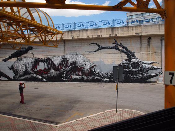 ROA graff artist