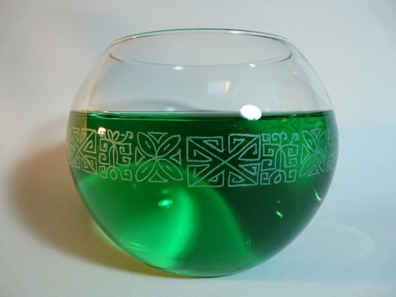 Vase Maori gravé main pouvant servir de photophore, de pot à crayons : Accessoires de maison par chez-bella