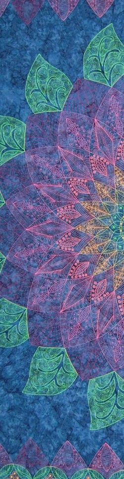 "close up, Zen Dahlia by Pat Ferguson, from her ""Zen Quilting Workbook"" (2012). Posted at Narragansett Bay Quilter's Association:"