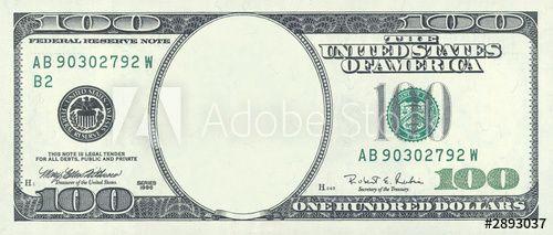Hundred Dollar Blank In 2021 100 Dollar Bill Bills Printable Dollar Bill