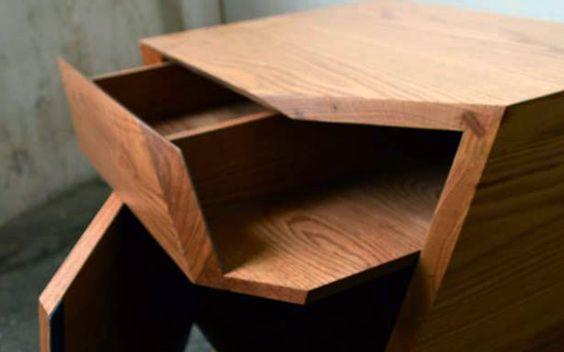 Tadao bedside table by Rodrigo Galvan-Duque at Coroflot.com