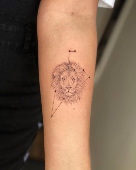 leo constellation tattoo