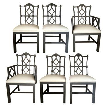 Check out this item at One Kings Lane! Fretwork Dining Chairs, Set of 6