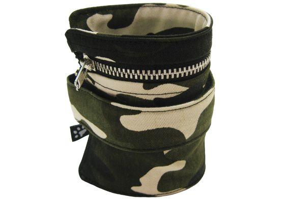 """Portefeuille de poignet """"Camouflage"""", pochette de voyage, de sécurité, bracelet porte-billets, porte monnaie de cheville. de la boutique atelierPATH sur Etsy"""