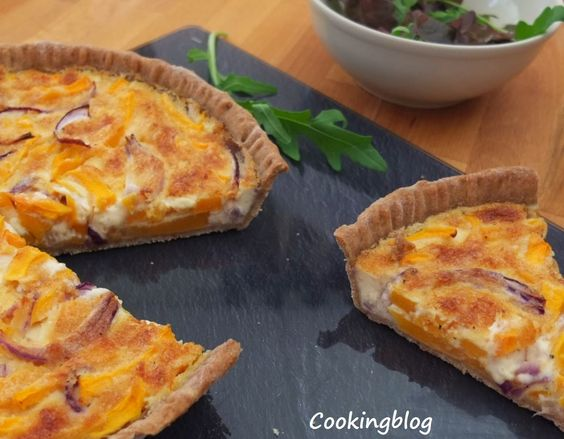 Tarte de abóbora manteiga e parmesão | Butternut squash and parmesan tart #Nhammm