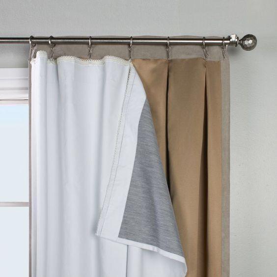 Doris Blackout Grommet Single Curtain Panel Liner