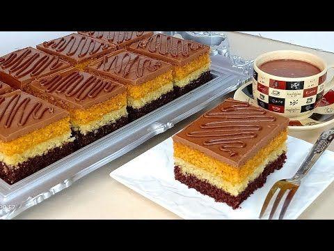 جديد بسبوسة كيك المدهشة لأول مرة على اليوتيوب بخليط واحد حضرت 3 طبقات Youtube Desserts Cooking Recipes Sweets