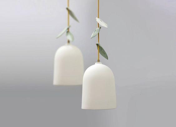 Hanglamp met porselein blaadjes - Elke van den Berg - Gimmii