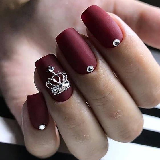 Top 70 Burgundy Nails Nailspiration Burgundy Nails Chic Nails Matte Nails Design