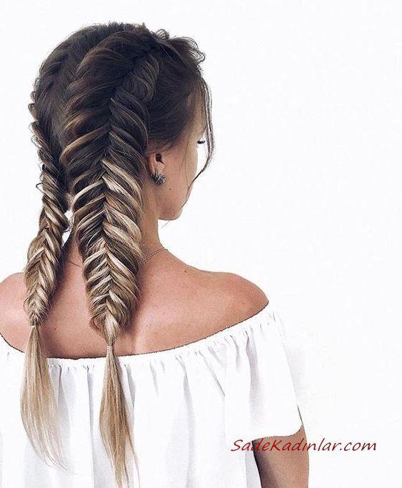 2019 En Sik Ve Goz Alici Orgu Sac Modelleri Fishtail Hairstyles
