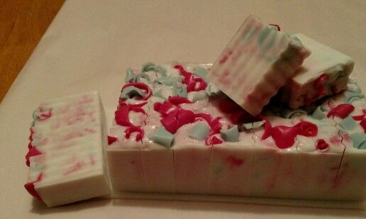 Peppermint holiday soap