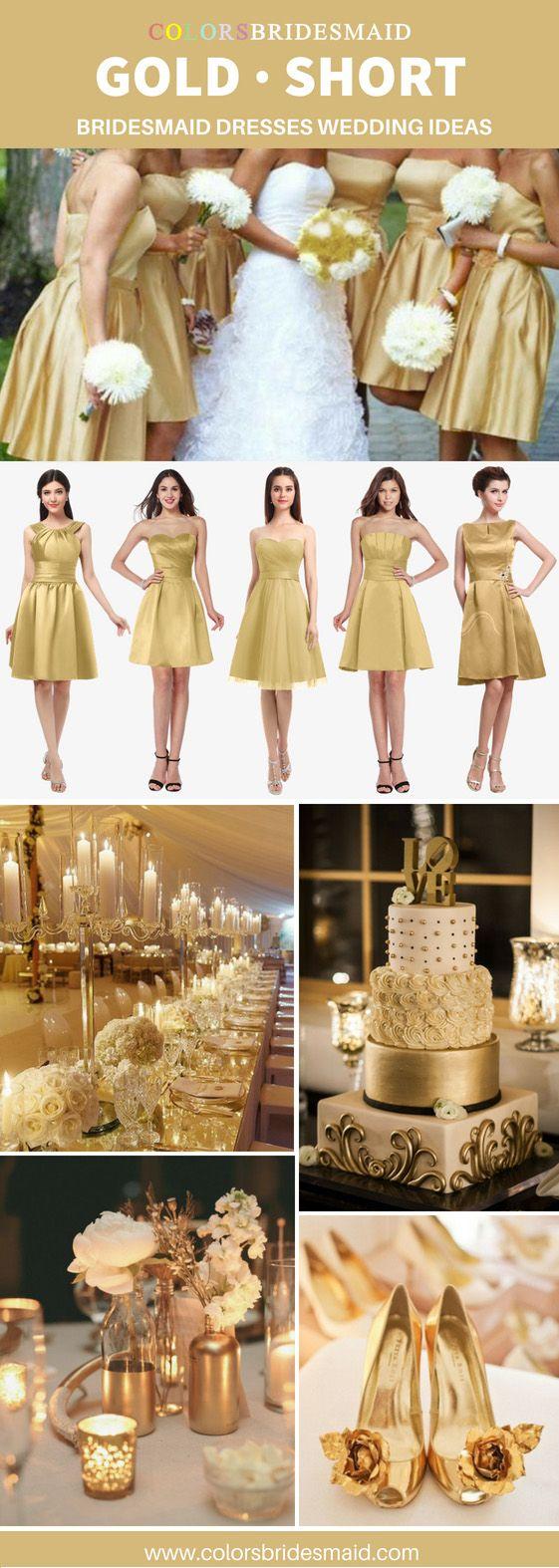 41++ Short gold bridesmaid dress ideas