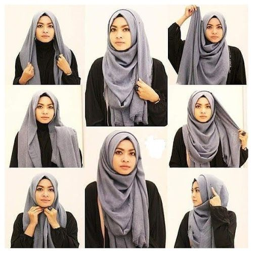 Tutorial Hijab Segi Empat Simple Sehari Hari Ragam Muslim Tutorial Hijab Mudah Gaya Hijab Kerudung