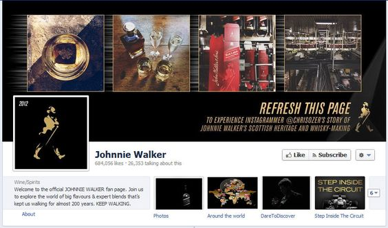 Johnnie Walker Interactive Facebook Cover Photo