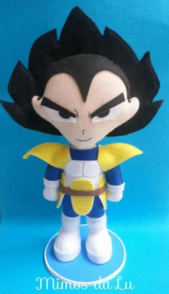Molde Goku E Vegeta Em Feltro Felt Dolls Dragon Ball Z Dragon Ball