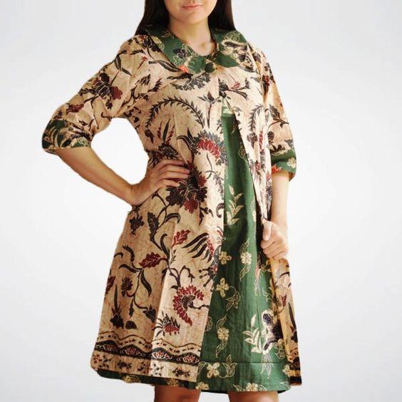 Desain Blouse Batik Modern 4