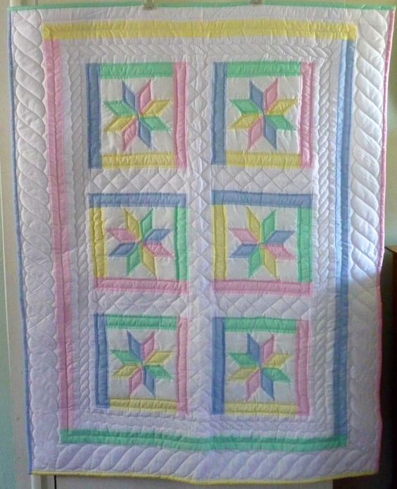 Amish Infant Quilt Star Flower Pattern by QuiltsByAmishSpirit, $250.00: