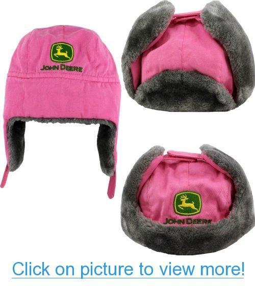 John Deere LogoGirls Youth Pink Trapper Style Hat