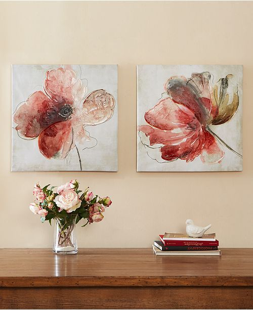 Jla Home Madison Park Lovely Blooms 24 Canvas Wall Art Set Floral Wall Art Flower Canvas