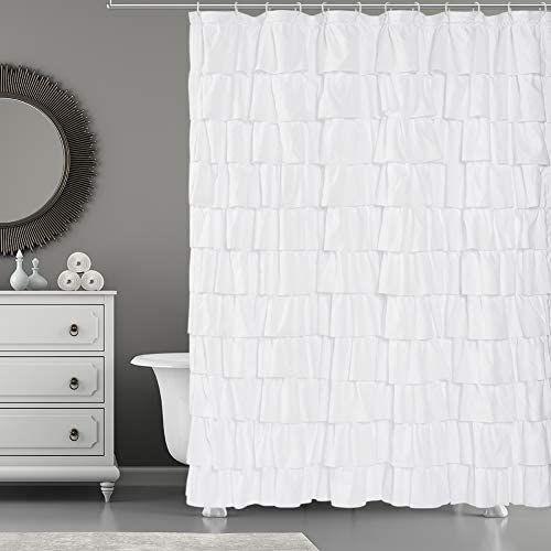 ruffle shower curtains