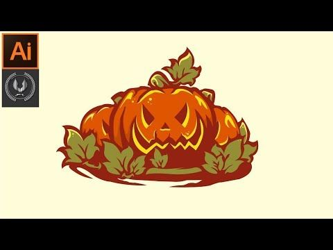 Adobe Illustrator Cc Tutorial How To Make Beautiful Halloween Background Design Background Design Halloween Backgrounds Learning Adobe Illustrator