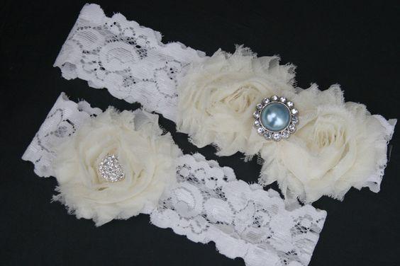 15% OFF, Garter, Wedding Accesory, Bridal Garter, Light Blue Garter, Garters, Garter Set, Lace Garter, Vintage Garter Garder, Garder Set. $28.99, via Etsy.