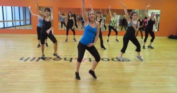 This fun swing zumba routine to Christina Aguilera's hit song