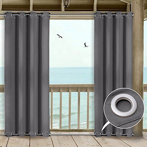 Nicetown 108 Outdoor Curtain For Patio Versatile Windproof Microfiber Energy Saving Thermal I Indoor Outdoor Curtains Outdoor Curtain Panels Outdoor Curtains