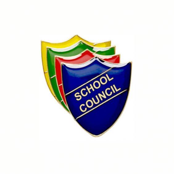 School Council Pin Badge - Shield