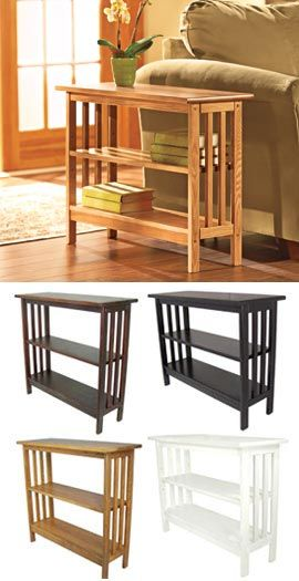 Slim Bookcase Table Plenty of storage that won't crowd your room.