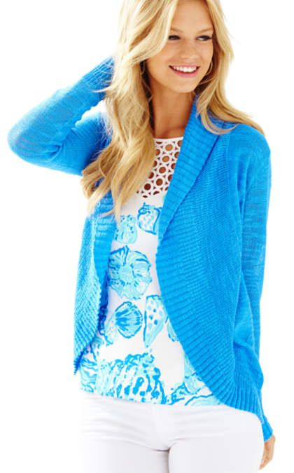 shawl collar cardigan - Lilly Pulitzer