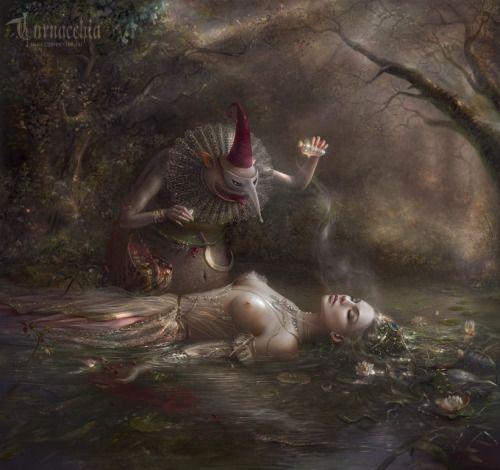 mystery-of-silence:  Nezhivika by cornacchia-art