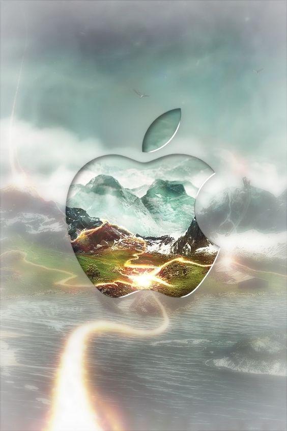 風景をうつすApple