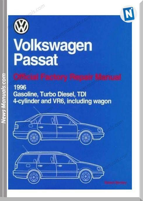 volkswagen passat official factory wiring diagrams 1996