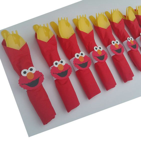 Hey, I found this really awesome Etsy listing at https://www.etsy.com/listing/233277602/10-elmo-party-cutlery-elmo-birthday