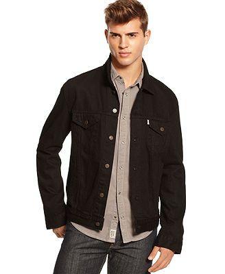 Levi's Jacket, Black Button-Down Jean Jacket | Jackets | Pinterest ...