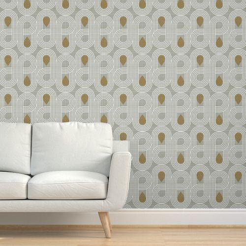 Endless Highway Mid Century Modern Mid Century Modern Wallpaper Wall Coverings Wallpaper