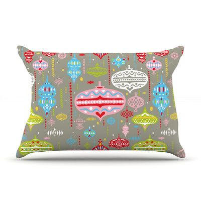 KESS InHouse Ornate by Miranda Mol Featherweight Pillow Sham Size: Queen, Color: Silver, Fabric: Woven Polyester